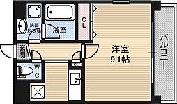 タウンコート晴光[4階]の間取り