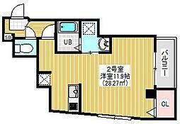 BRIGHT FUTURE 東大島 3階1Kの間取り