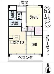 クリスタルステージ[2階]の間取り