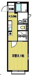 ベルモア高座渋谷[2階]の間取り