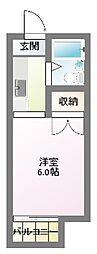 清竜荘[207号室]の間取り