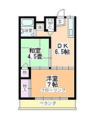 中川マンション[205号室]の間取り