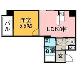 ロマネスク六本松第3[9階]の間取り