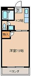 JR久大本線 南久留米駅 3.9kmの賃貸アパート 1階1Kの間取り