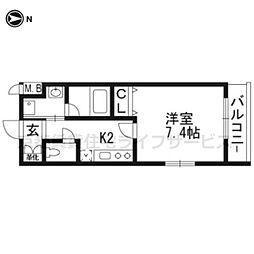 ベラジオ京都壬生ウエストゲート[1階]の間取り