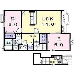 メゾン ドゥ コリーヌ[2階]の間取り