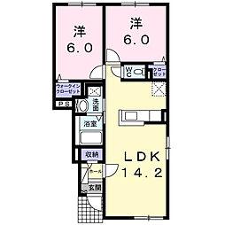 サイド V[1階]の間取り