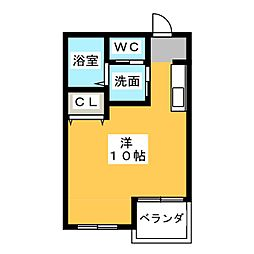WELL−BEING上条[3階]の間取り