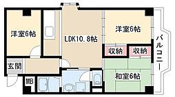 愛知県名古屋市緑区細口2丁目の賃貸マンションの間取り