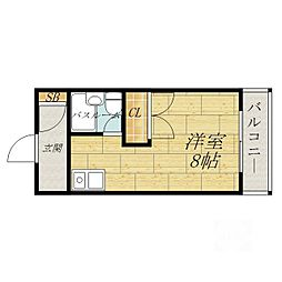 大阪府吹田市内本町3丁目の賃貸マンションの間取り
