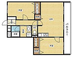 テラジハイツI号館[2階]の間取り
