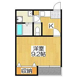 上賀茂ハイツ安井[3B号室]の間取り