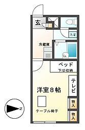 レオパレスKITAICHI[2階]の間取り