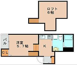 アクシス箱崎[1階]の間取り