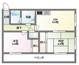 富士栄町マンション[303号室]の間取り