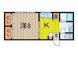 都屋ビル[4階]の間取り