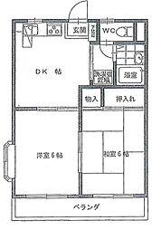本太イブキマンション[3階]の間取り
