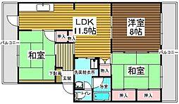 村第2ビル[403号室]の間取り