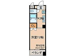 京都府京都市伏見区西町の賃貸マンションの間取り