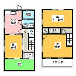 [テラスハウス] 愛知県刈谷市今川町田地池 の賃貸【/】の間取り