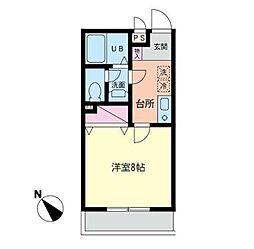 クオーレ湘南[2階]の間取り