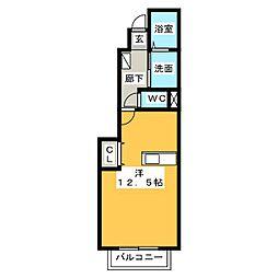 セレーノ[1階]の間取り