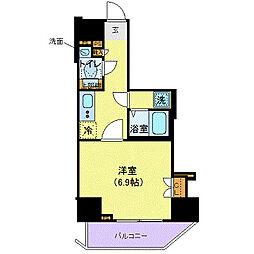 東京メトロ丸ノ内線 西新宿駅 徒歩6分の賃貸マンション 4階1Kの間取り