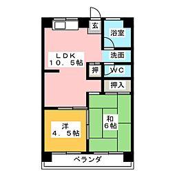 第1Uコーポ[2階]の間取り