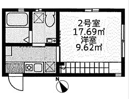 仮)モンステラ鶴ヶ峰[202号室]の間取り