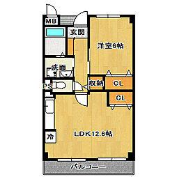グランボヌールI[2階]の間取り