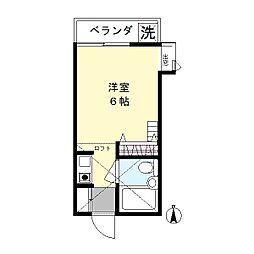 グリーンハイムK1[2階]の間取り