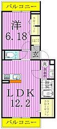 studio 115[2階]の間取り