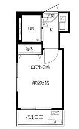 東京都練馬区中村2丁目の賃貸アパートの間取り