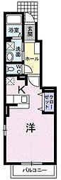 西武池袋線 東久留米駅 徒歩18分の賃貸アパート 1階ワンルームの間取り