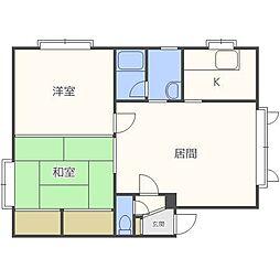 メゾンバロール[2階]の間取り