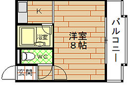 COSMO蓮井[2階]の間取り
