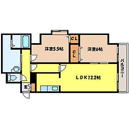北海道札幌市中央区北四条西18丁目の賃貸マンションの間取り