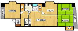 ロータリービルド宿院[4階]の間取り