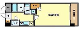 大阪府大阪市中央区南久宝寺町2丁目の賃貸マンションの間取り