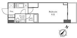 カーサスプレンディッド南麻布フラット 4階ワンルームの間取り