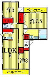 [一戸建] 千葉県習志野市谷津5丁目 の賃貸【/】の間取り