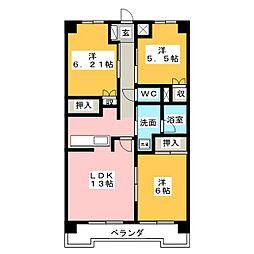 ヴィラMRK8[8階]の間取り