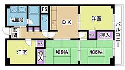 マンハイム淀川公園[223号室]の間取り