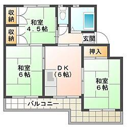 八千代台西団地[3階]の間取り