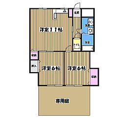 木下マンション[2階]の間取り