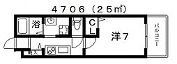 グランパシフィック阪南町[2階]の間取り