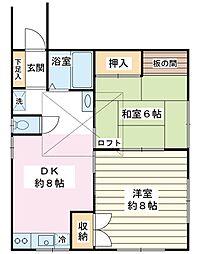 千葉県浦安市高洲3丁目の賃貸アパートの間取り