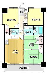 4LDKで和室2部屋です