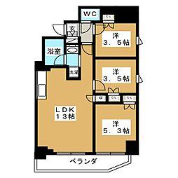 Brillia ist 元浅草 7階3LDKの間取り