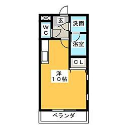エクセル上八田II[2階]の間取り